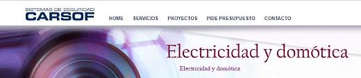 Sistemas de seguridad CARSOF, electricidad y domótica