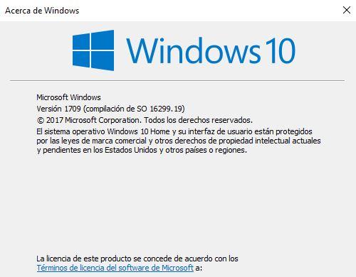 Windows 10. Acerca de